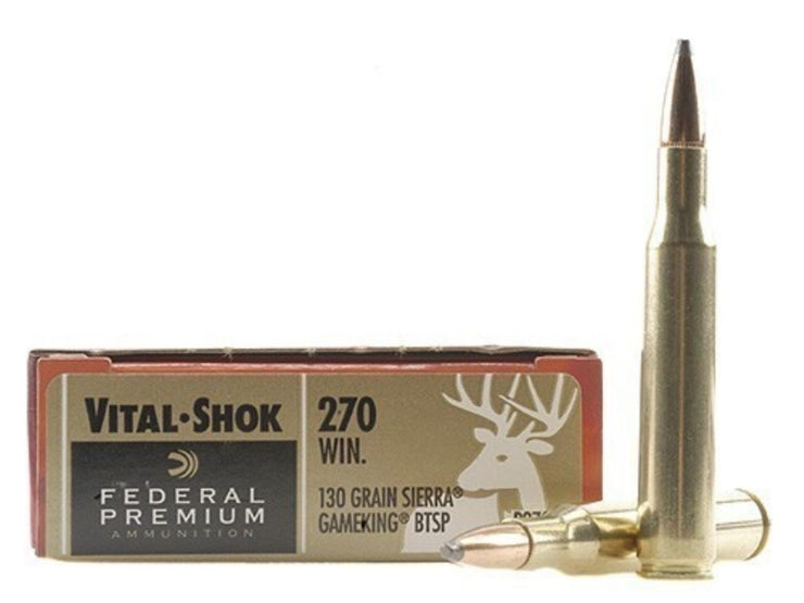 Federal Vital Shok .270 Gameking 130gr BT SP Sierra (P270D) 20pk