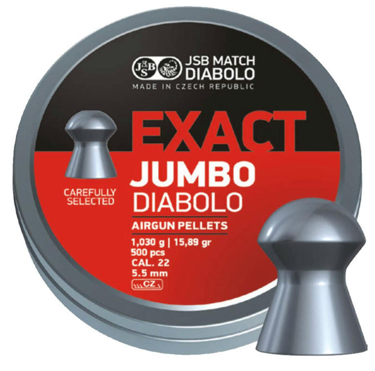 JSB JSB Jumbo Exact .22 Pellets 5.52  Tin of 500