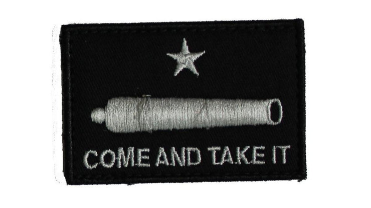 SME COME AND TAKE IT CANNON BLACK w/ ADHESIVE Patch