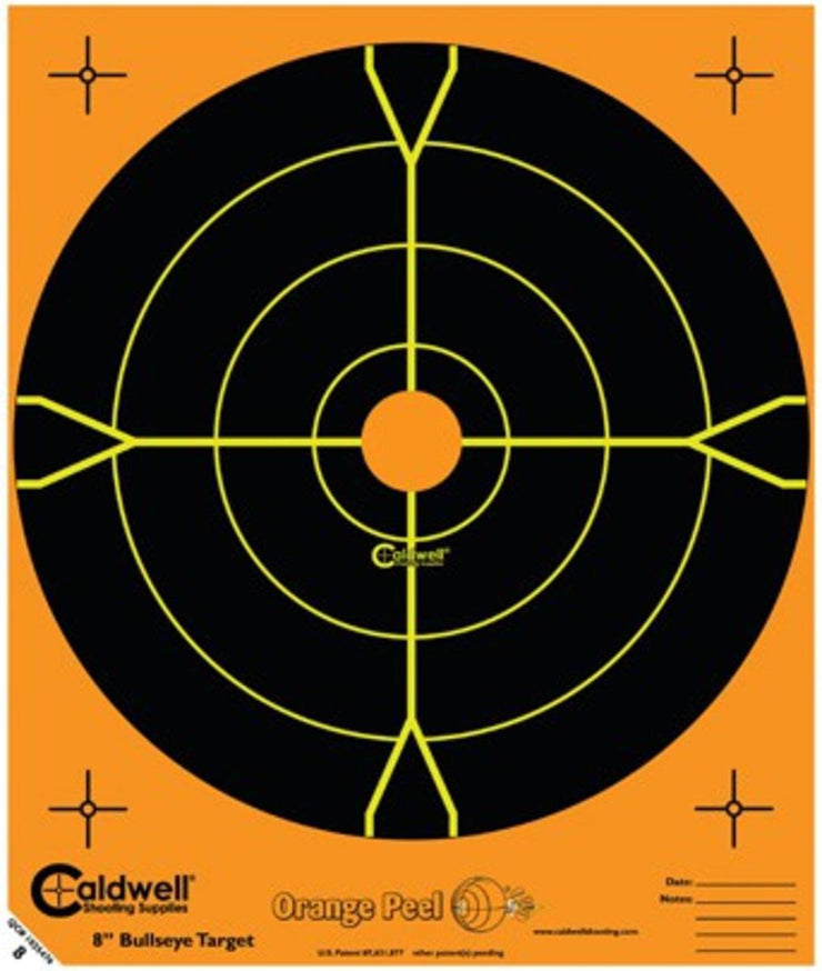 Caldwell Caldwell Orange Peel 8 Inch Bullseye 25 Sheets