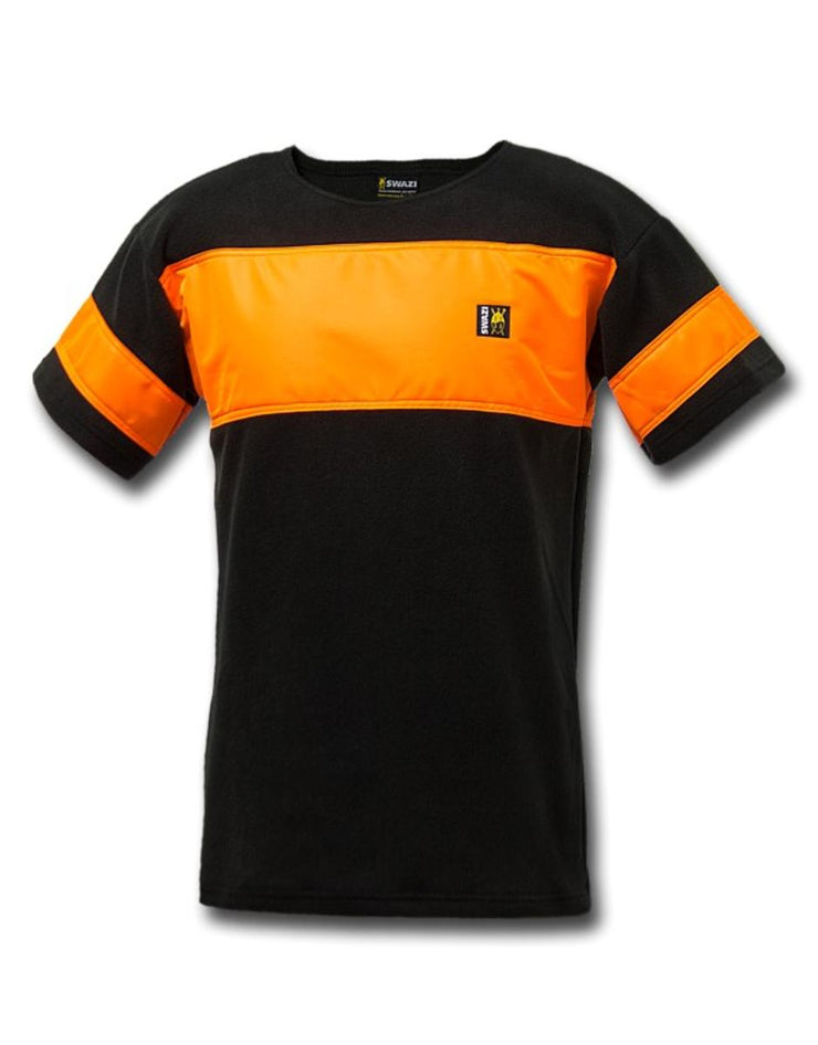 Swazi Bushmans Tee HV - Orange n Black