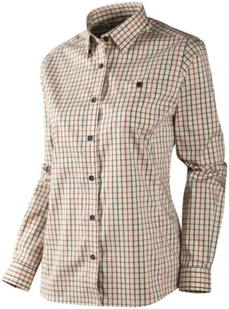 Harkila Lancaster Lady L/S shirt Red check