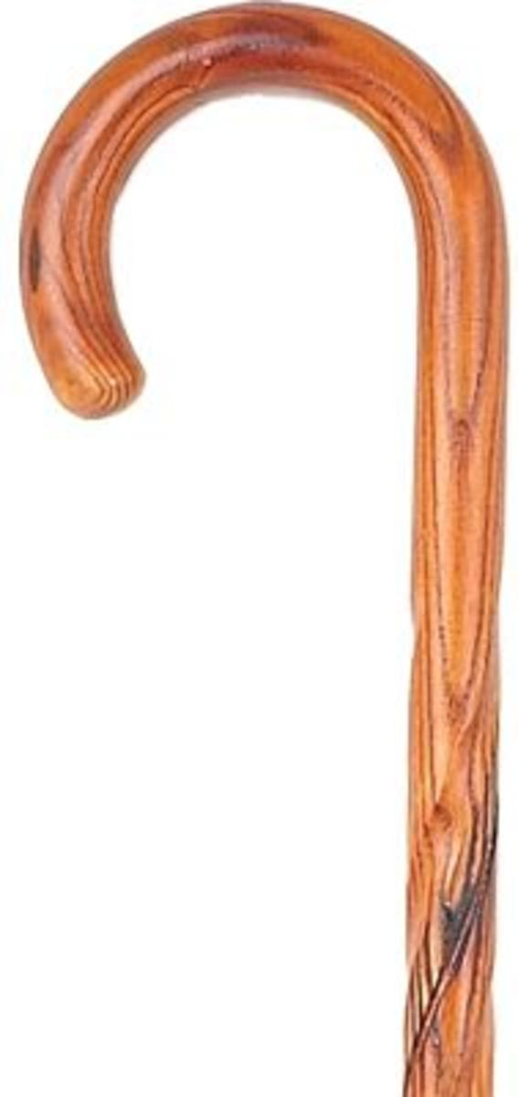 Bisley Dark Swirl Acacia Crook Handle Stick