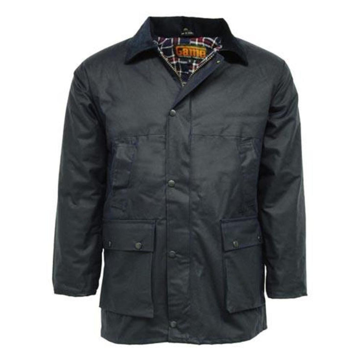 Game Classic Padded Wax Jacket up to 5XL Navy
