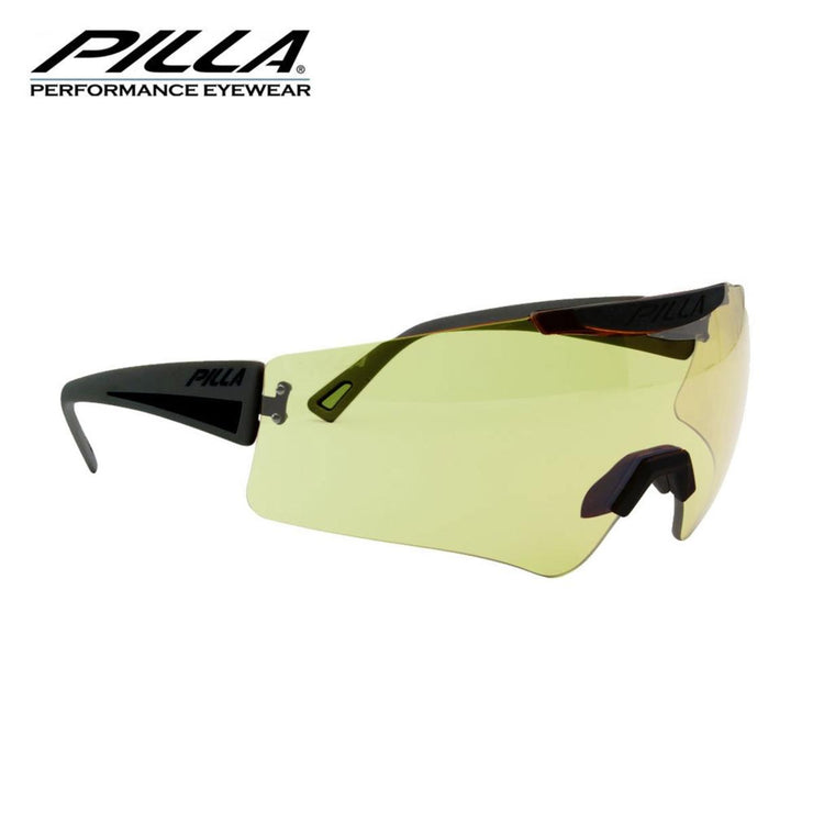 Pilla Vigilante Shooting Glasses 94HC Yellow/Green Lens Black Frame