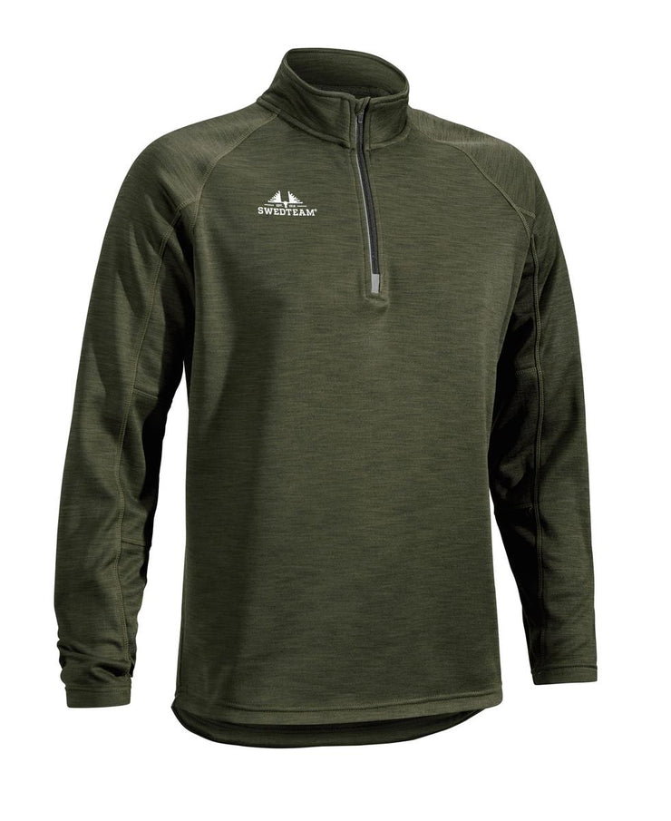 SwedTeam Ultra Light M Sweater Half-zip Green