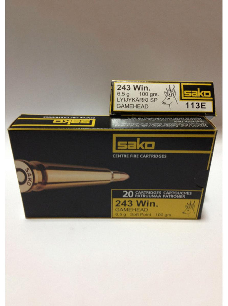 SAKO  .243 100gr Soft Point 113E (20pk)