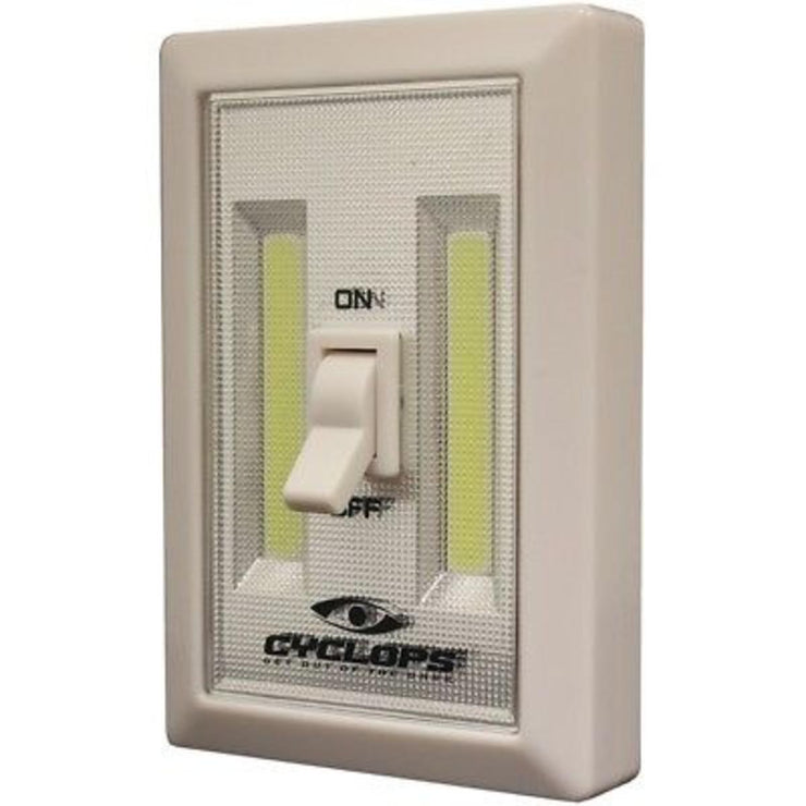 Cyclops 180 Lumen Switch Light LED with 2 AAA Batteries Aluminum Ivory Package of 2