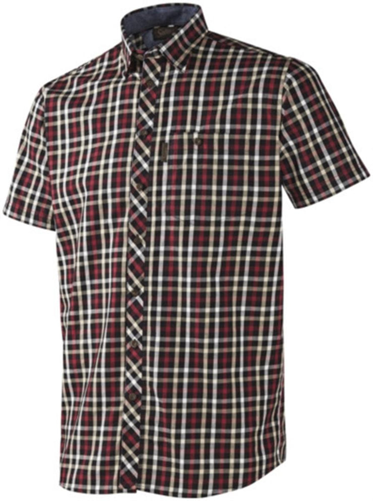 Seeland Hanley S/S shirt Red/Dark blue check