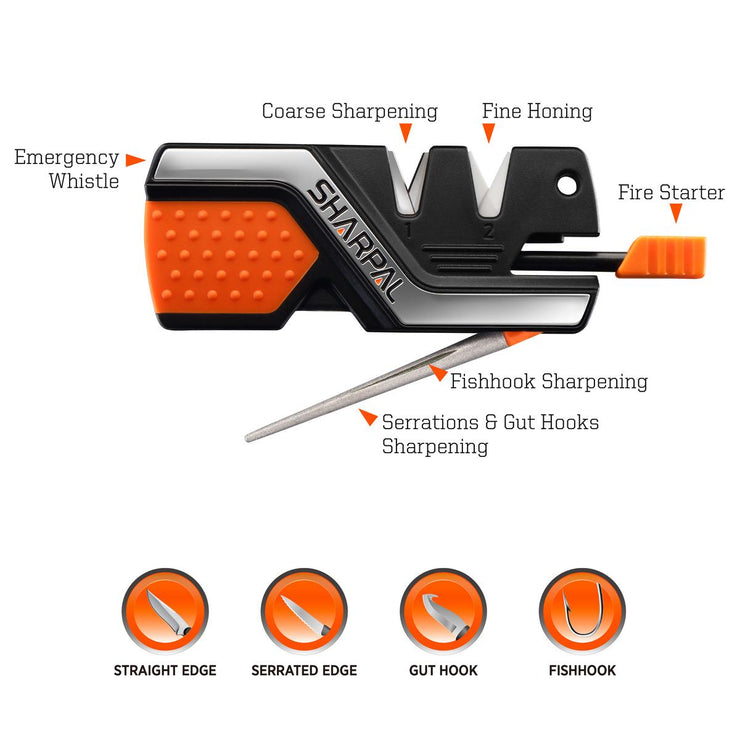 Sharpal 6-IN-1 KNIFE SHARPENER/SURVIVAL TOOL