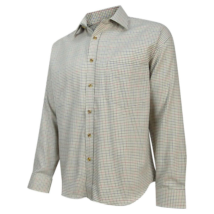 Hoggs of Fife Skye Mid-Size Tattersall Check Shirt  Multi-colour Mid-Sized Check