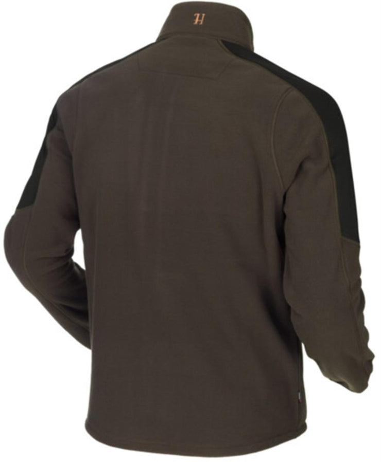Harkila Venjan fleece jacket - Shadow Brown/Willow green