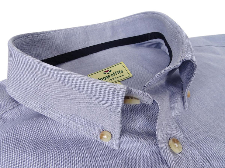 Hoggs of Fife Dunedin Oxford Shirt Blue