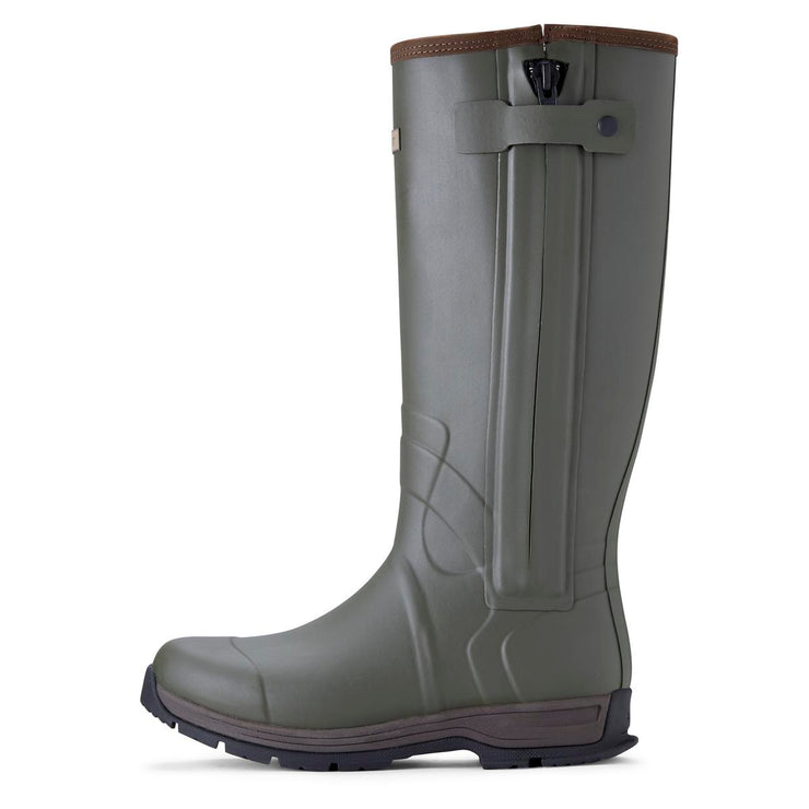 Ariat BURFORD INSULATED ZIP OLIVE GREEN WELLINGTON