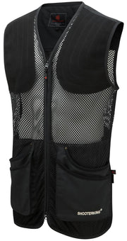 ShooterKing Clay Shooter Summer Vest   Black