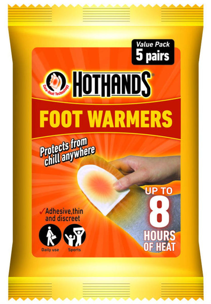 Bisley HotHands Foot Warmer Value Pack of 5 Pairs