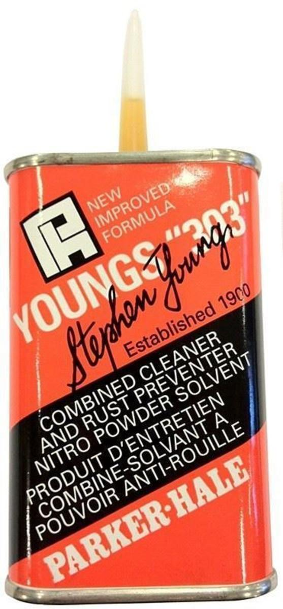 Parker Hale 125ml Drop Tin Youngs '303' Oil