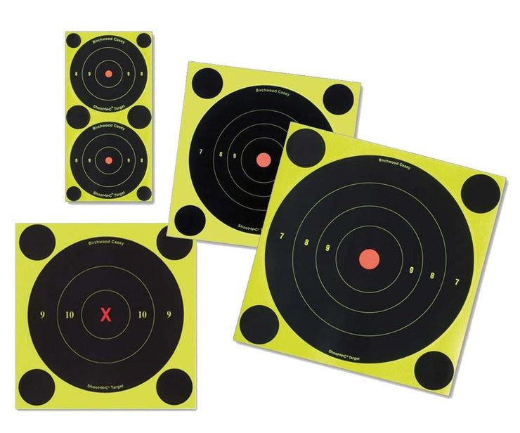 "Birchwood Casey Shoot•N•C® 1"", 2"", 3"" Bull's-eye Targets (72 - 1"", 36 - 2"" & 24 - 3"") 12 sheets"