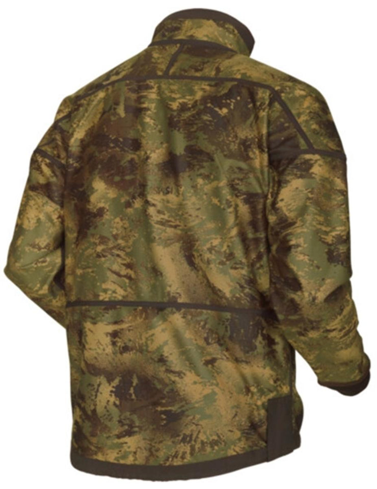 Harkila Lynx Reversible fleece jacket - Willow green/AXIS MSP® Forest green