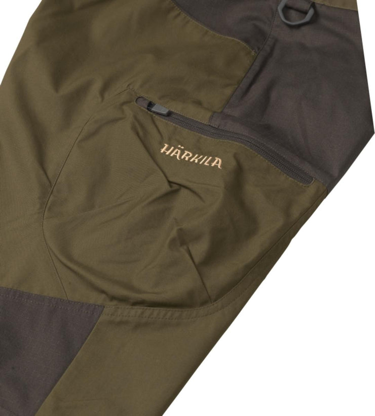 Harkila Hermod trousers - Dark olive/Willow green