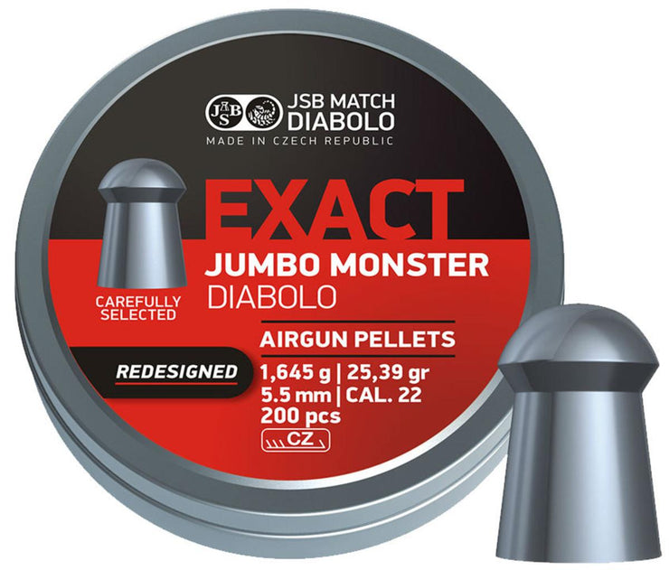 JSB JSB Jumbo Exact Monster .22 Pellets  Tin of 200