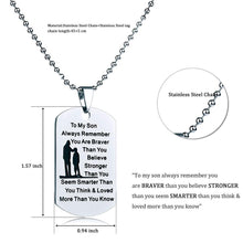 Load image into Gallery viewer, Mom To Daughter - Customized Stainless Steel Dog Tag Necklace