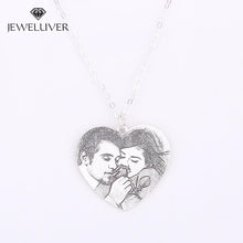 Load image into Gallery viewer, Personalized Heart-Shaped Vintage Photo Necklace