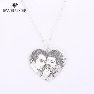 Personalized Heart-Shaped Vintage Photo Necklace