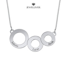 Load image into Gallery viewer, Engravable Circles Name Necklace