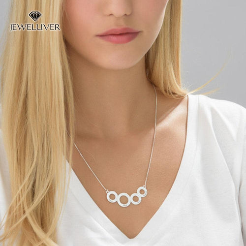 Engravable Circles Name Necklace