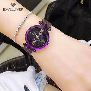 Custom Diamond Bling-Bling Magnetic  Watchband Engraved Women Watches