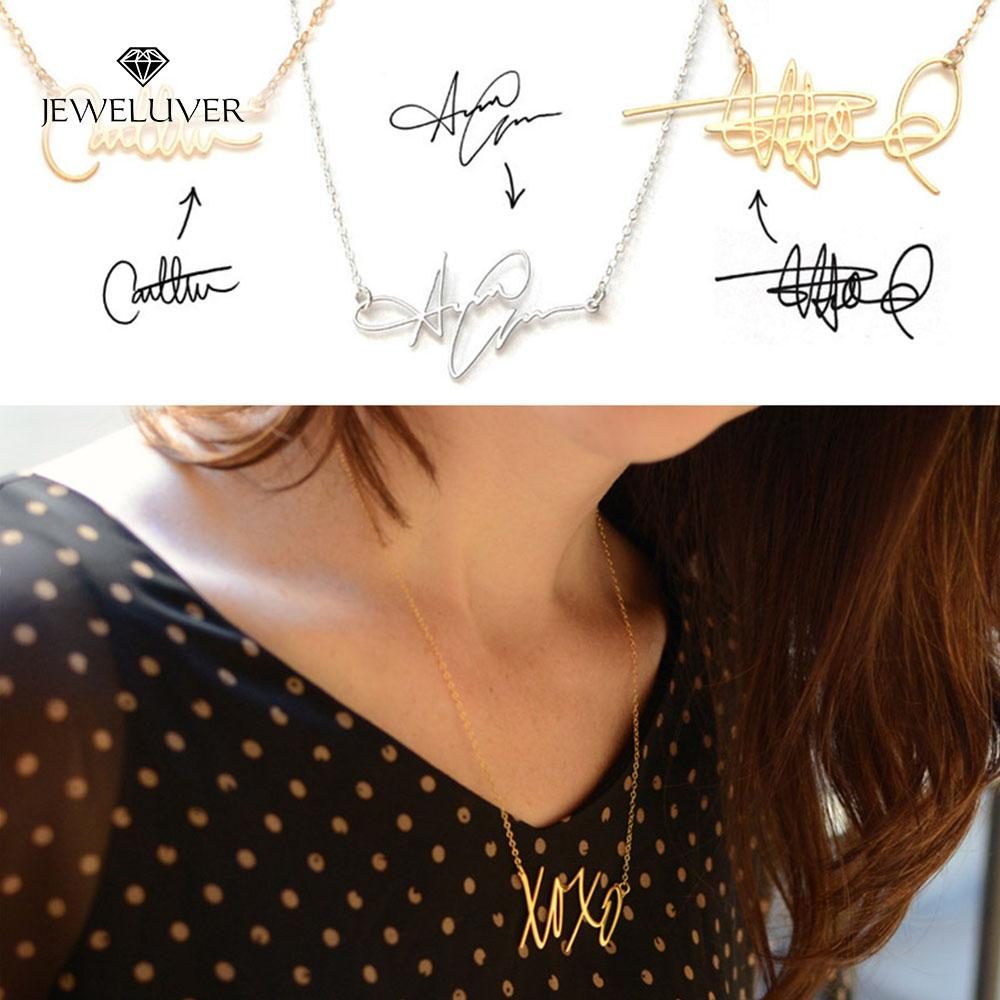 Personalized Name Necklace With Your Own Signature