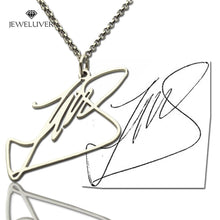 Load image into Gallery viewer, Personalized Name Necklace With Your Own Signature