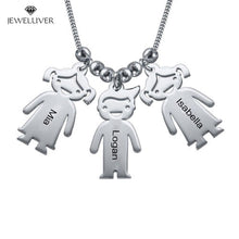 Load image into Gallery viewer, Personalized Mum Necklace with Engraved Children Charms