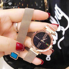 Load image into Gallery viewer, Custom Diamond Bling-Bling Magnetic  Watchband Engraved Women Watches