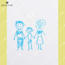Load image into Gallery viewer, Kids' Drawing Necklaces - Special Jewelry for Moms