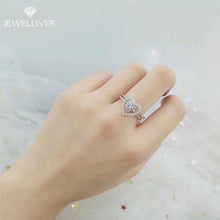 Load image into Gallery viewer, Heart Shape Center Setting Ladies Two 2  Ring Set