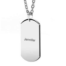 Load image into Gallery viewer, Mom To Son - Customized Stainless Steel Dog Tag Necklace
