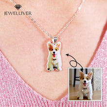 Load image into Gallery viewer, Personalized 3D Full Color Silver Portrait Necklace