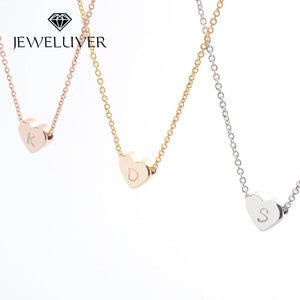 Personalized Initial Heart-Shaped Necklace
