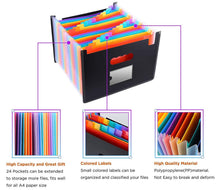 Load image into Gallery viewer, 24 Pocket Expanding File Folder Organizer