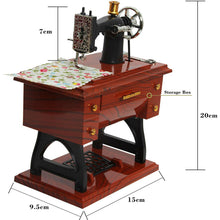 Load image into Gallery viewer, Mini Sewing Machine Music Box