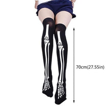 Load image into Gallery viewer, Chicken Leg Socks Stockings Women Girl Thicken Long Knee Socks Funny Chicken Stockings Striped Halloween Socks medias de mujer