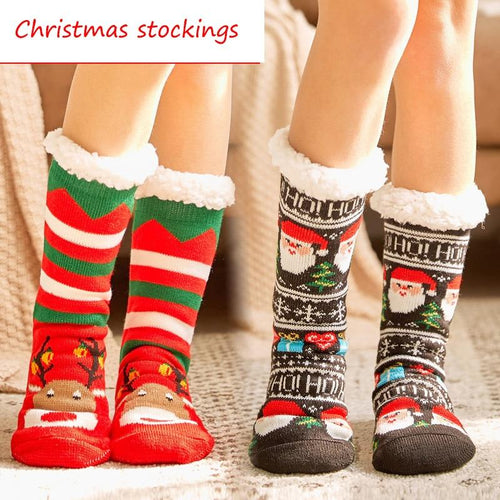 2019 women's winter socks thick plush cotton socks warm non-slip home floor socks Christmas gifts cartoon carpet socks new