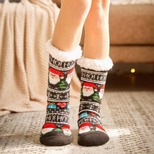 Load image into Gallery viewer, 2019 women's winter socks thick plush cotton socks warm non-slip home floor socks Christmas gifts cartoon carpet socks new