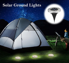 Load image into Gallery viewer, Solar Ground lamp 8 LEDs Disk Lights