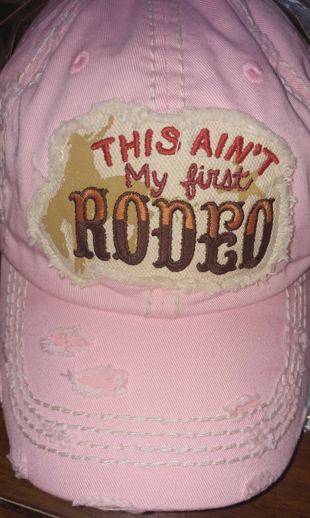 This Ain't My First Rodeo Distressed Trucker Hats