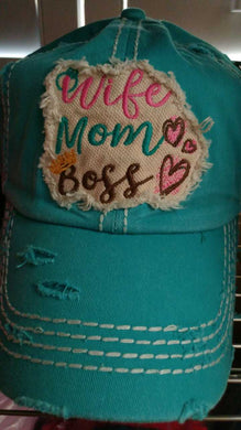Wife Mom Boss Trucker Hat