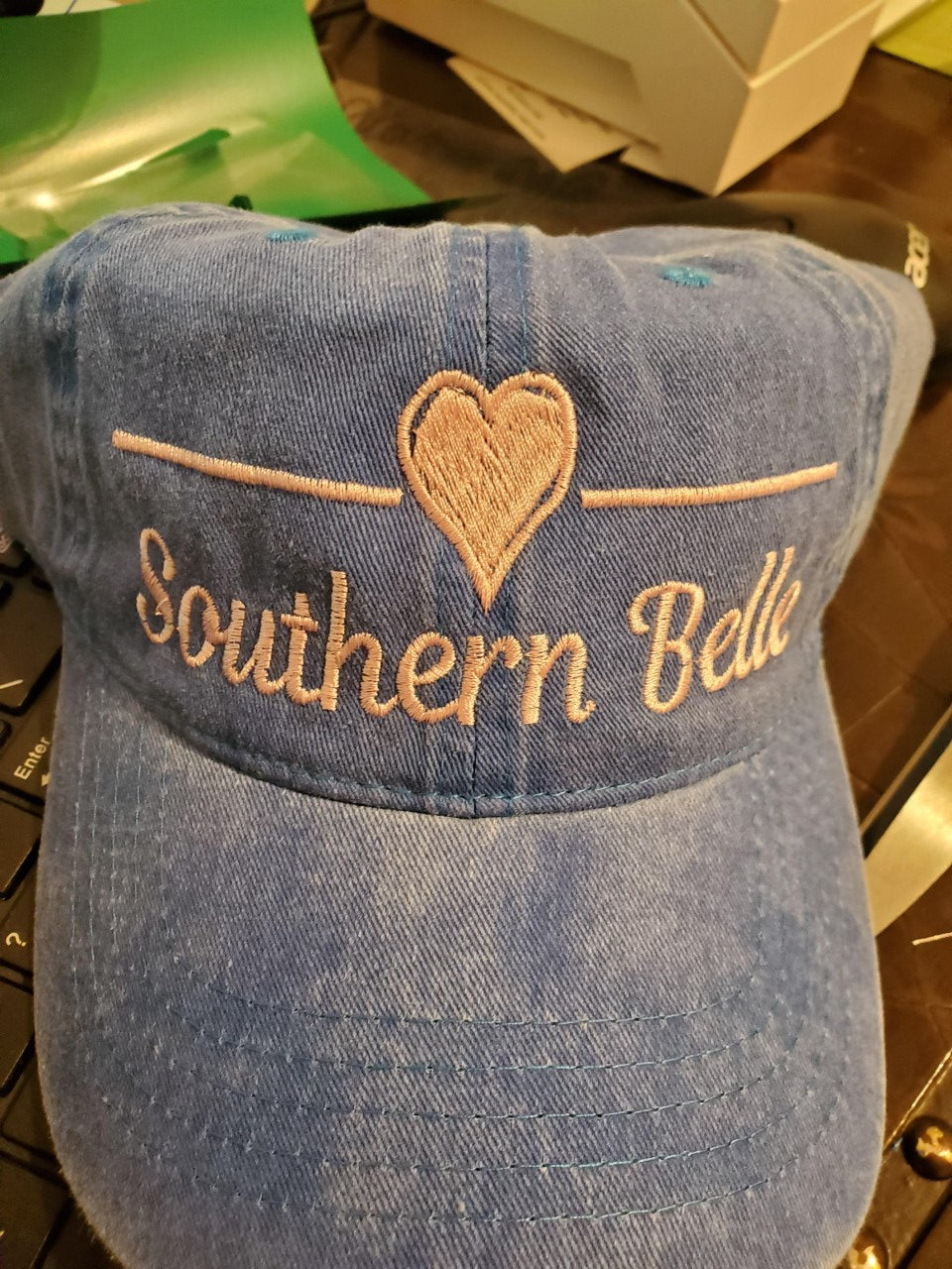 Southern Belle Distressed Trucker Hat