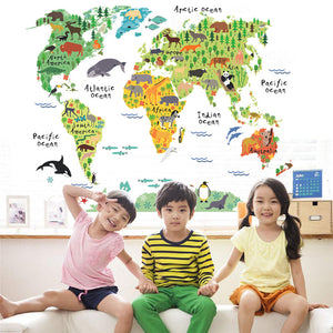 World Map Wall Stickers - trendyby.com